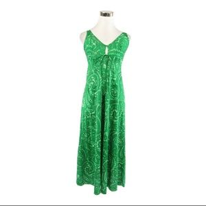 Olga green vintage maxi slip dress 32 XS